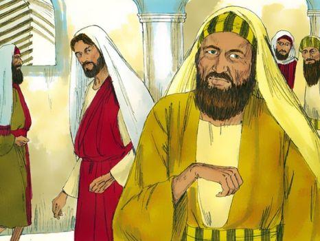 De man met de dorre hand, 11 Bijbelplaten voor het digibord, kleuteridee.nl , Bijbelles voor kleuters.
