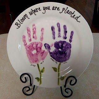 hand print plate ideas