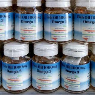 Fish Oil @1000mg Omega-3 Isi 25 Capsule, Nutrisi Alami Untuk Kesehatan dan Kecerdasan Otak Mau?? Order via SMS or WA ke 08561848084