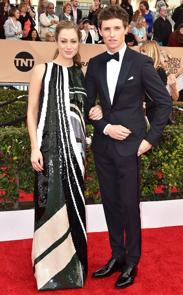 Hannah Bagshawe & Eddie Redmayne from Couples at the SAG Awards 2016  The Best Actor nominee and his expectant wife look amazing, as always.