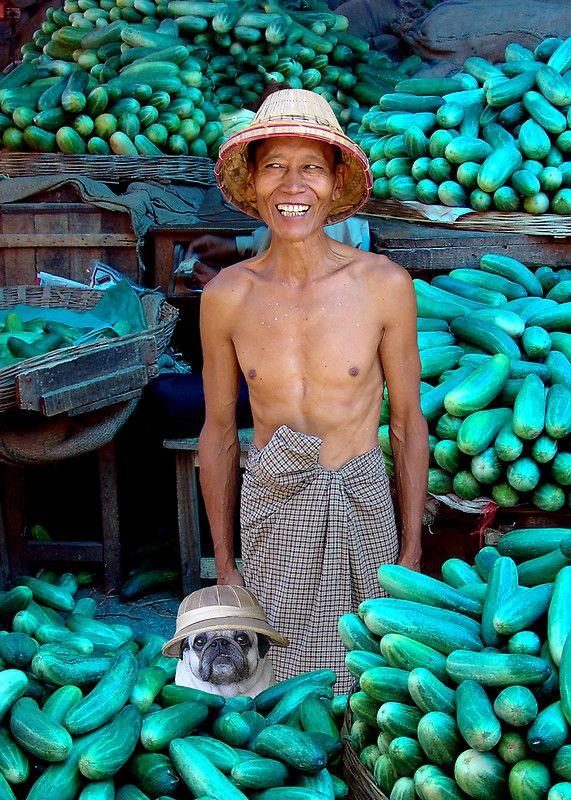Cucumber Merchants, Mandalay, Burma by Michael Sheridan.