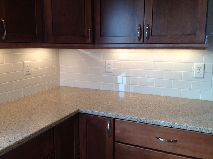 Gerard Homes Subway 3x6 Tiled Backsplash Design By