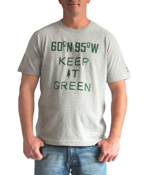 Grey mix t-shirt with Keep It Green graphic | 60°N 95°W | 60N95W.com
