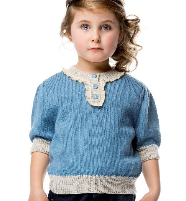 Modèle pull à volants fille - Modèles Enfant - Phildar