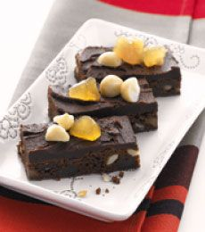 Chocolate and Ginger Slice - Perfect at tea-time, mmm, rich and chewy.