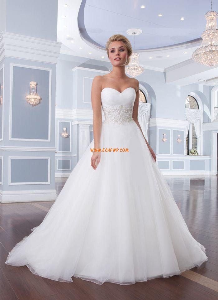 A-linje Vår Applikation Bröllopsklänningar 2014