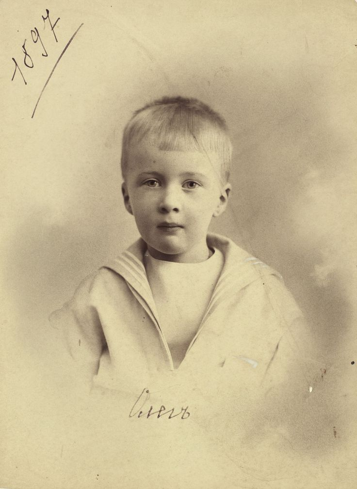 Prince Oleg Konstantinovich Romanov of Russia the favourite and most talented among nine children of Grand Duke Konstantin Konstantinovich of Russia, in 1897