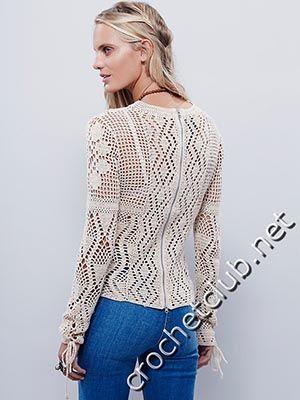 пуловер крючком от free people 1