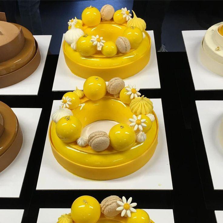 Entremet Meringue lemon tart from last masterclass in Mexico city #masterclass2016 #instagood #yummy #instadaily #share #tagsforlikes by johanmartin359