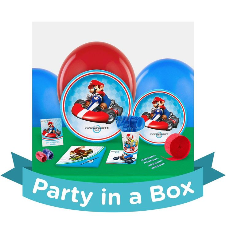 Mario Kart Wii Party in a Box For 8 from BirthdayExpress.com
