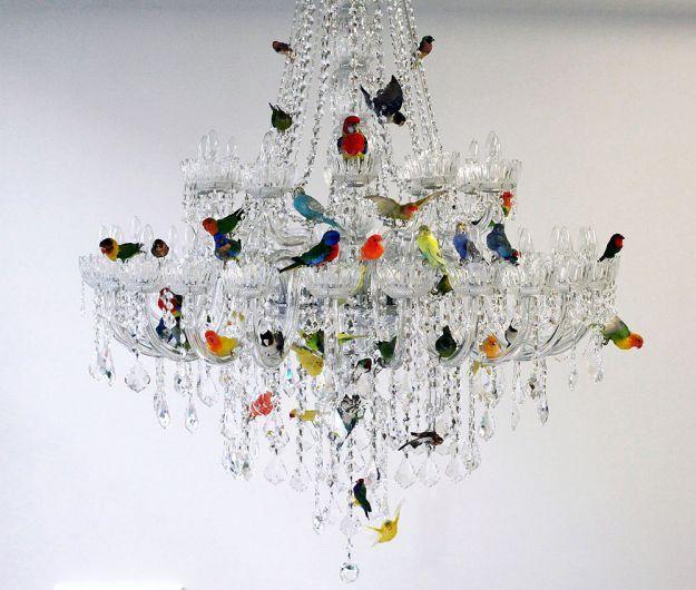 Lampadari Moderni di cristallo: l'incantevole XL Bird by Sebastian Errazuriz
