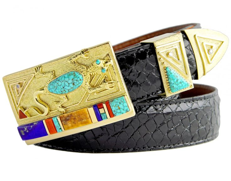 Jesse Monongya Gold Belt Buckle - Tom Taylor, Santa Fe