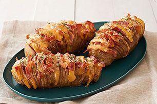 Cheesy Bacon Hasselback Potatoes Image 2
