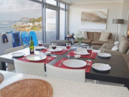 Self Catering Accommodation, Muizenberg, Cape Town  Wine and dine after a great surf and a view of the ocean