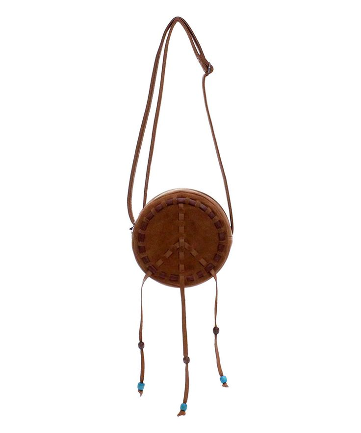 Look what I found on #zulily! Love Trove Saddle Peace Drum Crossbody Bag by Love Trove #zulilyfinds