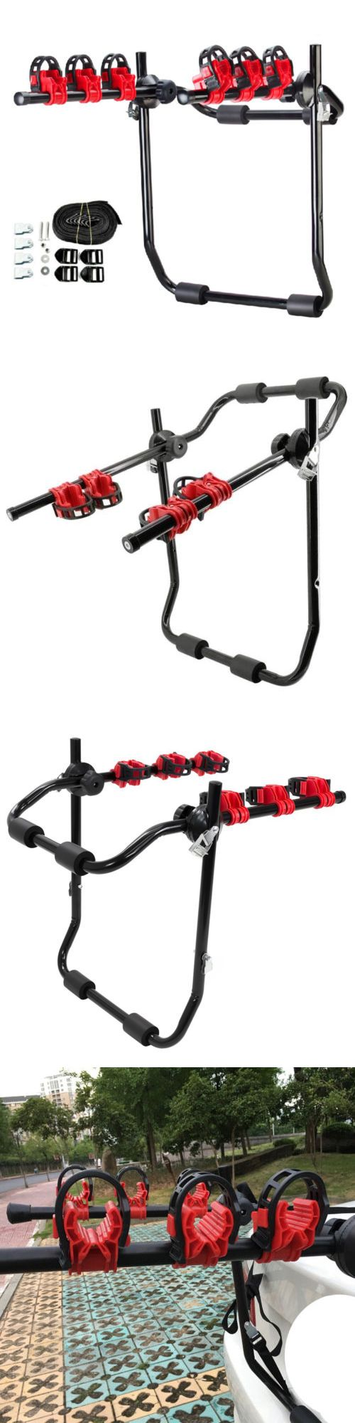 Car and Truck Racks 177849: Trunk-Mount 3-Bike Carrier Hatchback Suv Car Sport Bicycle Truck Rack Portable -> BUY IT NOW ONLY: $32.59 on eBay!