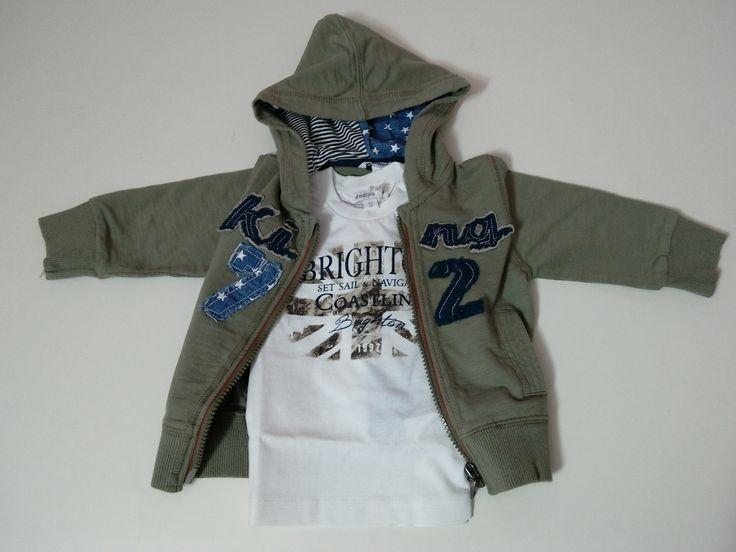 completo neonato felpa con zip e cappuccio + maglia manica lunga  taglie disponibili 9, 12, 18, 24 mesi