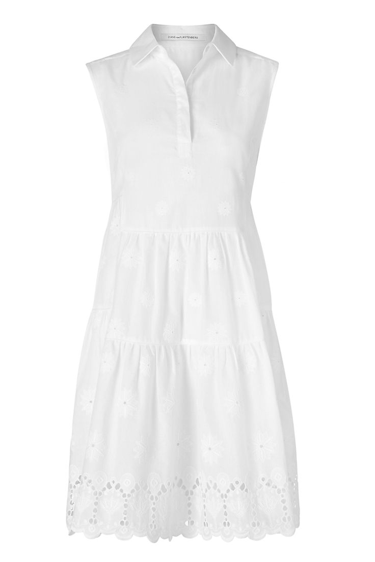 Family gatherings made simple in the DVF Kit Cotton Eyelet Shirt Dress