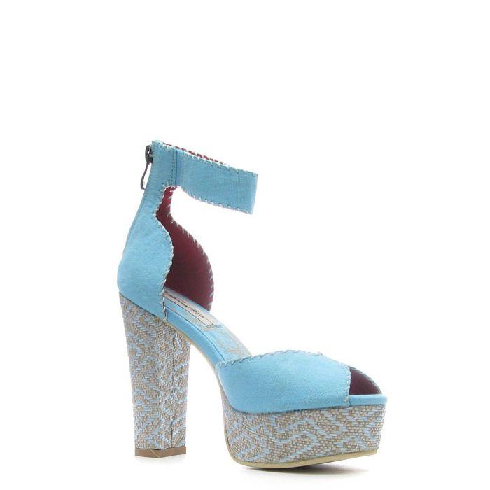 Ed Hardy Cindy Heel Shoe – Turquise