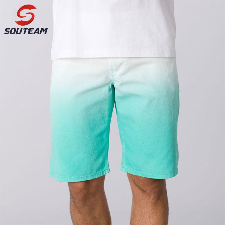 Souteam merk strand shorts voor mannen hoge kwaliteit braziliaanse boardshorts katoen sport shorts/surfen shorts maat m xl #3410210