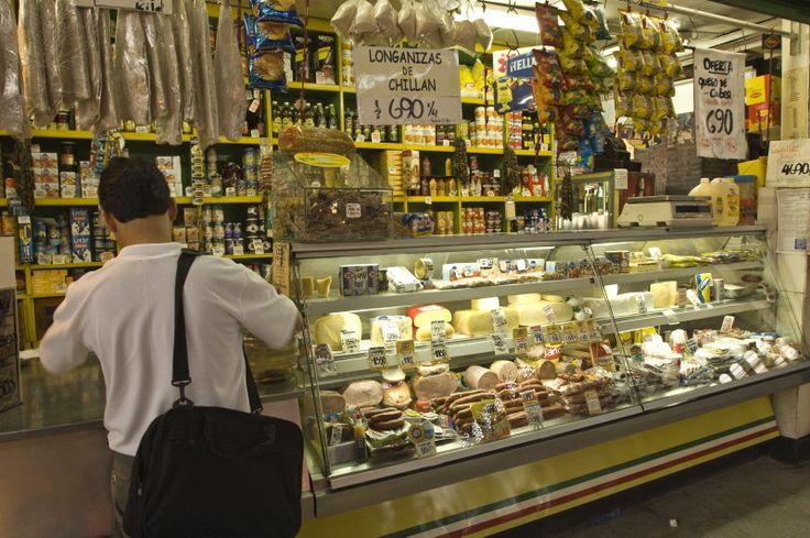 Central Market (Mercado Central), Santiago, Chile, South...