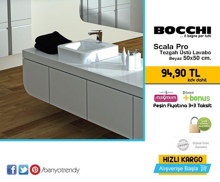 Bocchi Scala Pro Tezgah Üstü Lavabo 50x50 cm. 94,90 TL Kdv Dahil, #banyotrendy #bocchi #scala #pro #lavabo http://www.banyotrendy.com/bocchi-scala-pro-tezgah-ustu-lavabo-50x50-cm-pmu14234