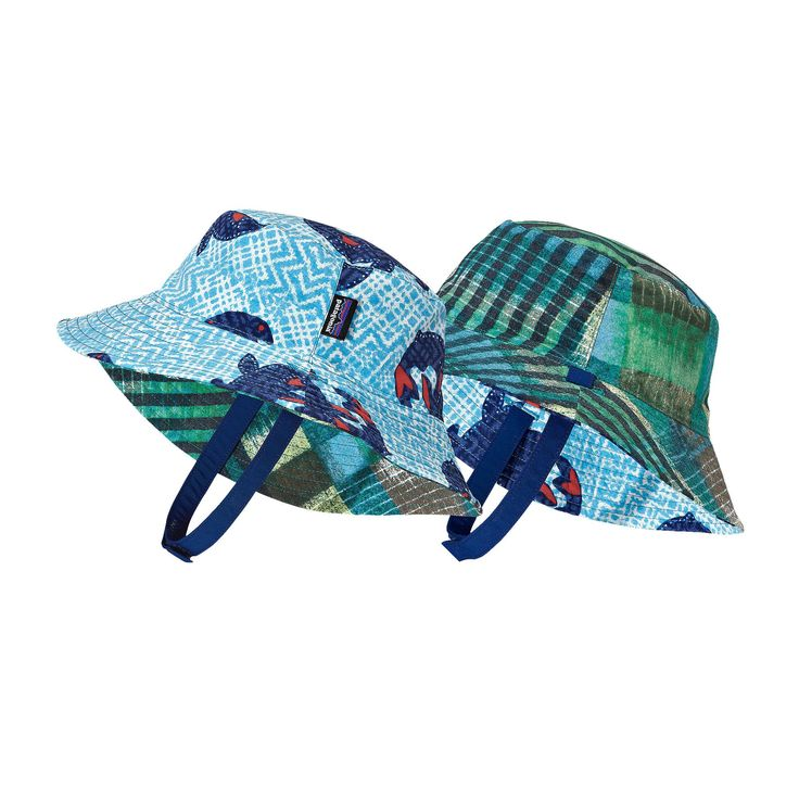 The Patagonia Baby Sun Bucket Hat offers 50  UPF sun protection and fun reversible colors and prints for all-day fun in the sun.