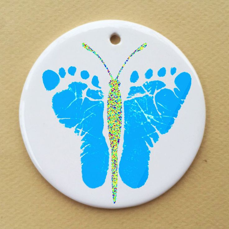 A personal favorite from my Etsy shop https://www.etsy.com/listing/229937717/butterfly-footprints-ceramic-round