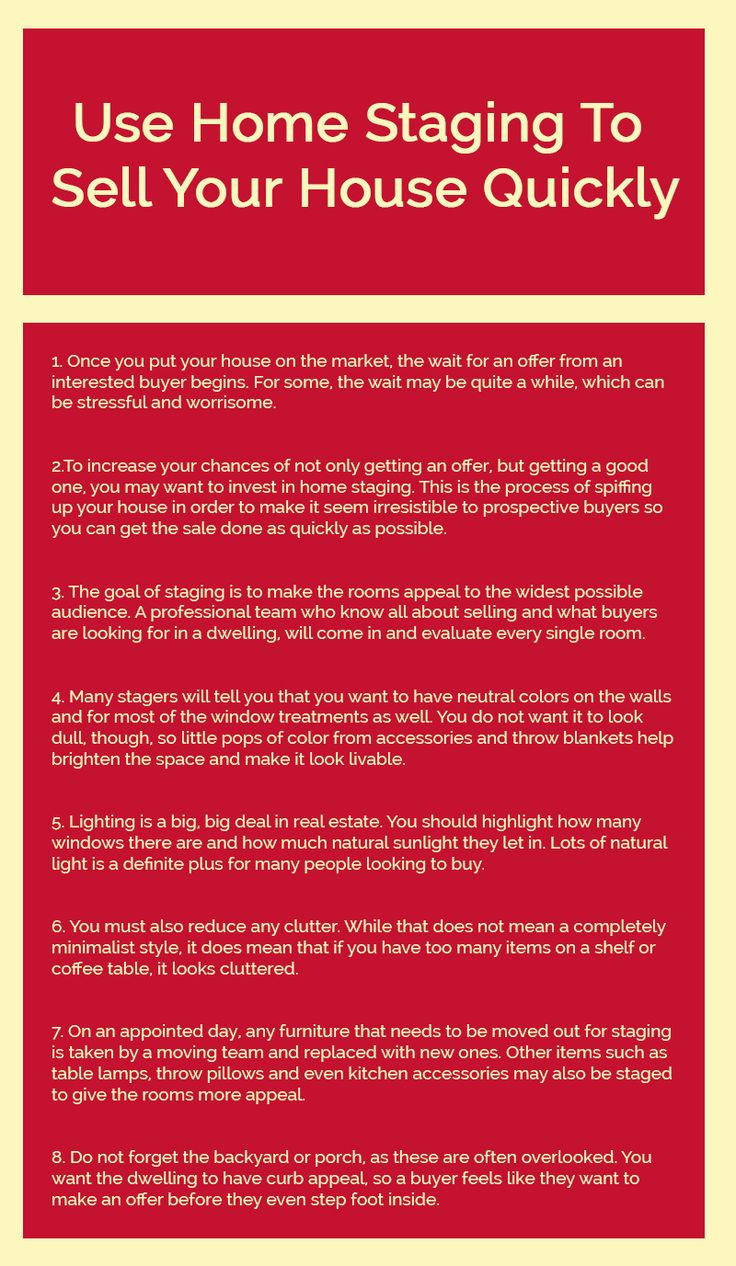 Selling your house can be a tiring and stressful job. In order to speed up the selling process, one may take the help of home staging technique. Here is an Infographic that will help you understand the importance of #homestaging in selling off your house.