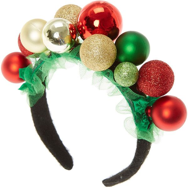 Christmas Ornament Headband ( 7.99) ❤ liked on Polyvore featuring  accessories 2e28d28acda