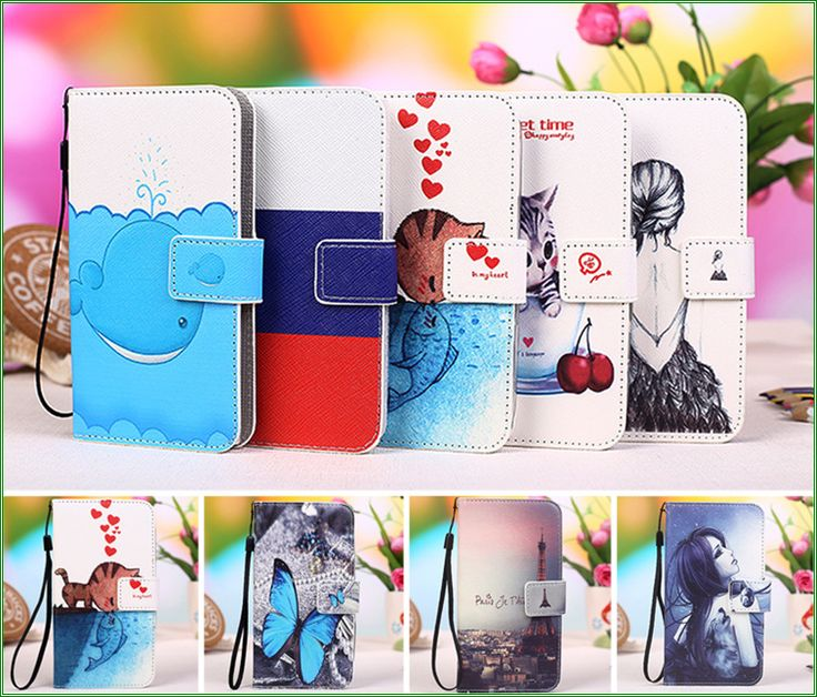 New Colourful Cartoon Patterns PU Leather Phone Case For Fly Nimbus 3 FS501 Cover Cases Shipping with Track Code