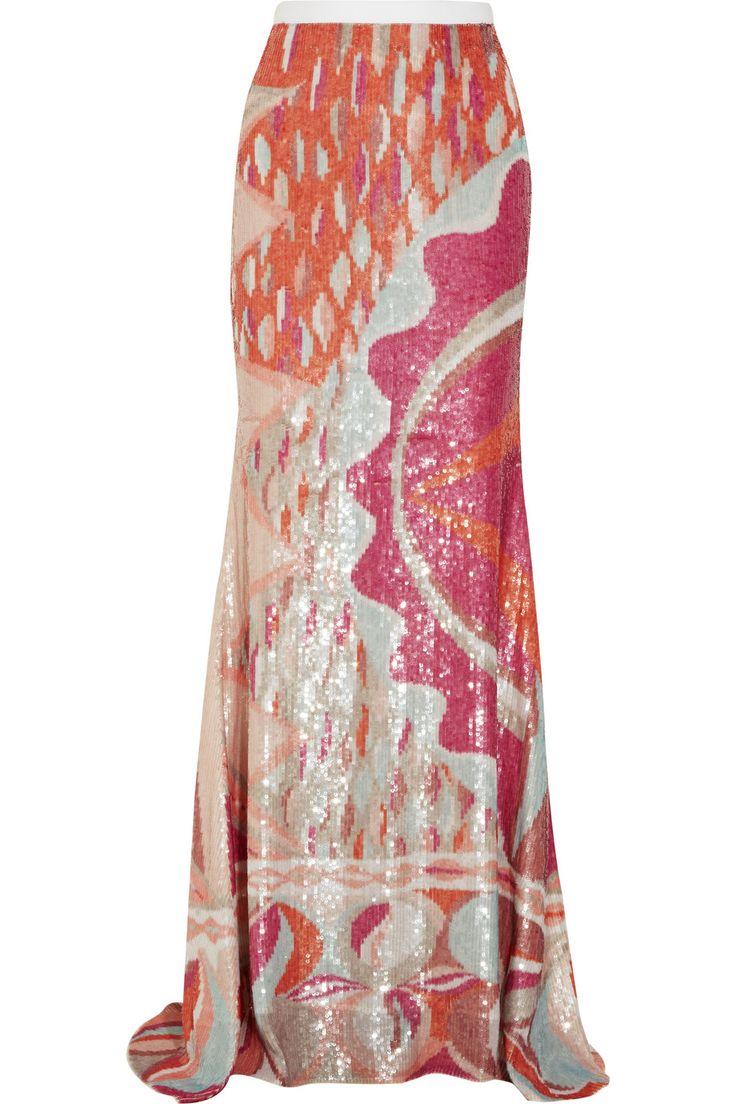 Emilio Pucci, Sequined silk maxi skirt