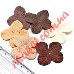 Набор цветов Makki гортензия 3,2см микс шоколадный, 6шт
