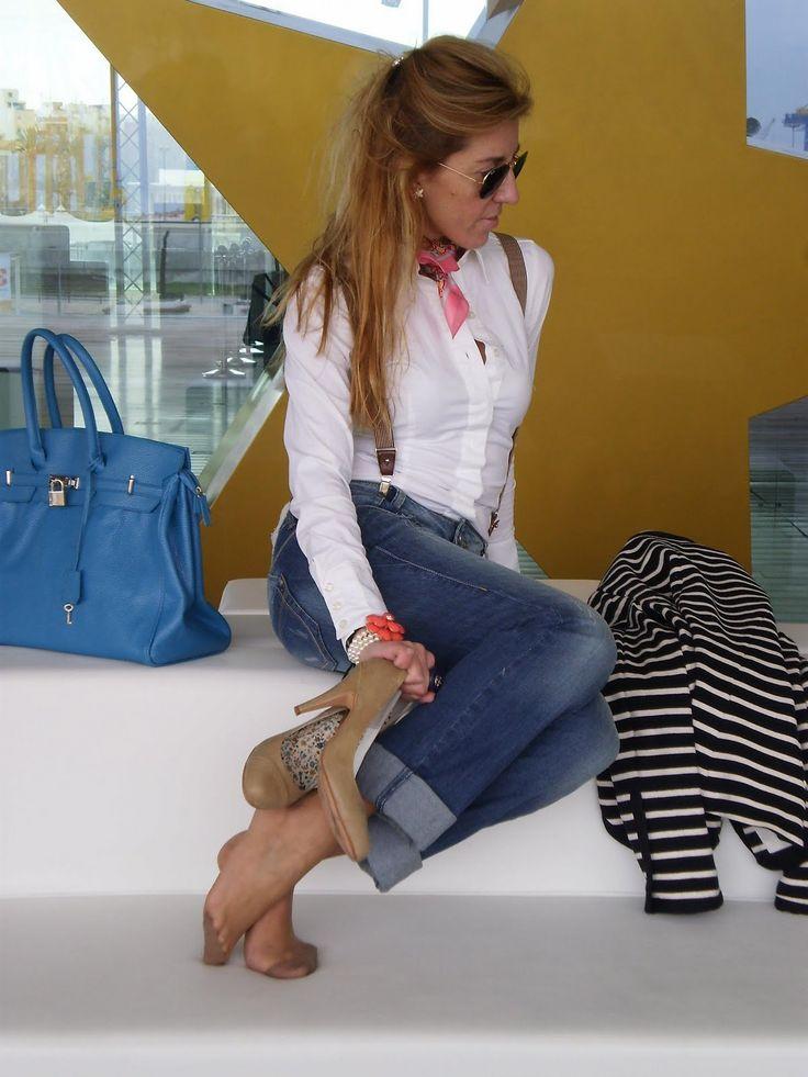 nylon under jeans Kerteminde