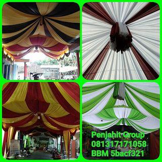 Penjahit group menerima pesanan sarung kursi,cover meja,rumbai tenda,plafon dekor,rangka tenda,tenda,terval