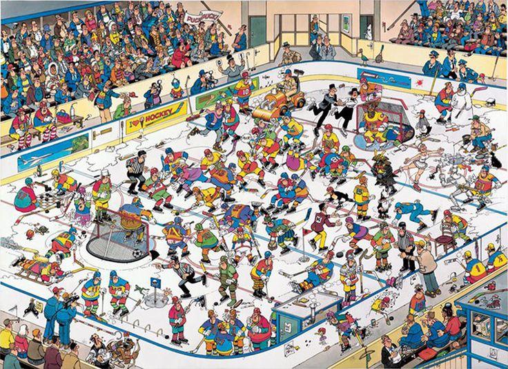 Ice Hockey (IJshockey) - Jan van Haasteren puzzels