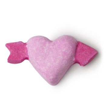 LUSH Cupid Bath Bomb.  Just ok.  Foams up.  Scent is minimal.  Would not buy again.