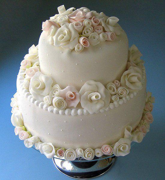 фото свадебного торта из масляного крема