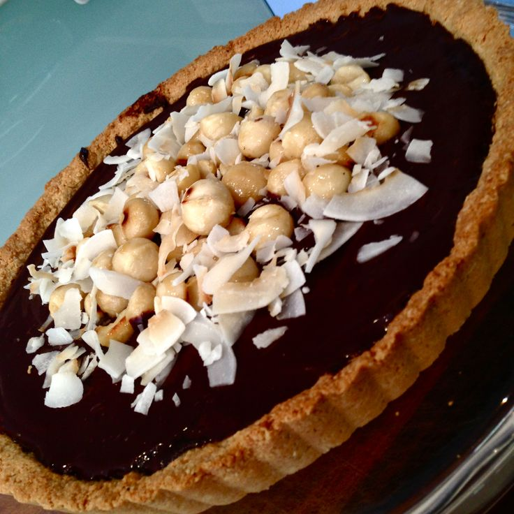 Healthy Orange ganache tart