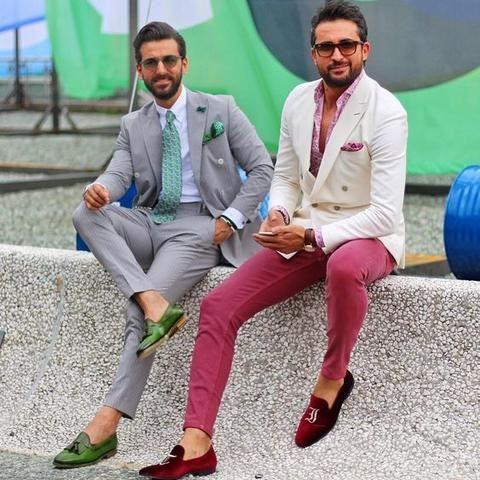 Men Shoes Brand Blue Velvet Loafers – myshoponline.com