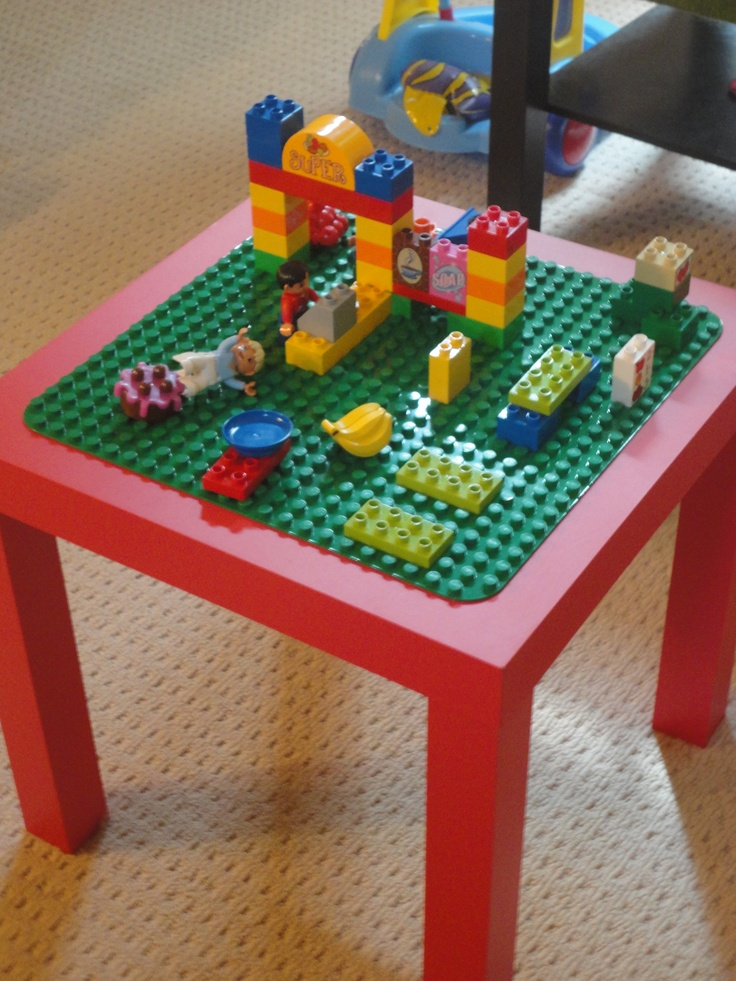 DUPLO table I made to share with our friends at out Lego Duplo House Party #