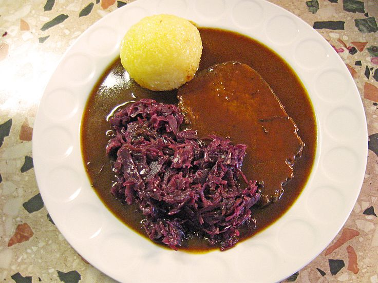 German Rhineland Sauerbraten is a classic beef roast from the Rhineland. You need some special ingredients but it is worth it. Original German recipe.