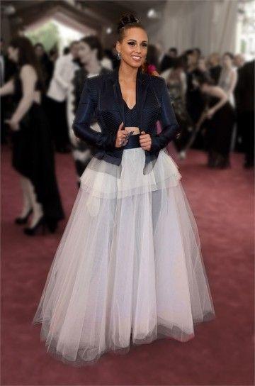 Alicia Keys in Jean Paul Gaultier Couture