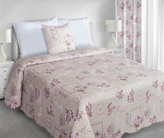 Oboustranné přehozy na manželskou postel v béžové barvě