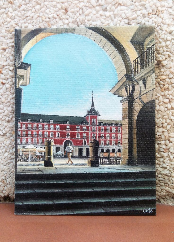 Arco de la Plaza Mayor. Óleo sobre tabla. 18x24,5.