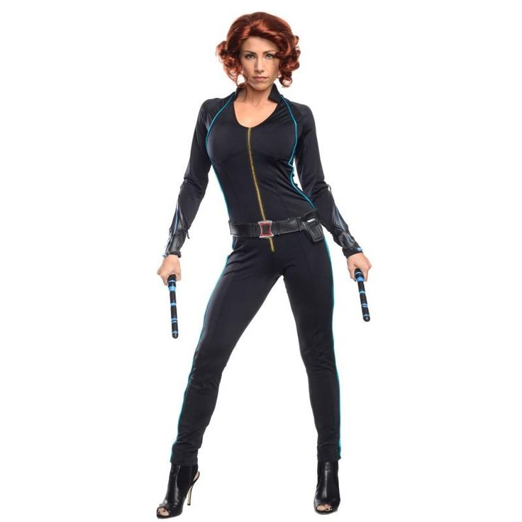 Black Widow fancy dress costume for women. Available for pre-order. Suitable for adults but child version also in stock at the end of August. Avengers Age of Ultron Costumes for Adults - Fancy Costume Madness