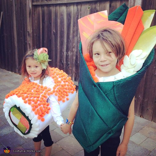Yum Yum Sushi Kids - Halloween Costume Contest via @costume_works
