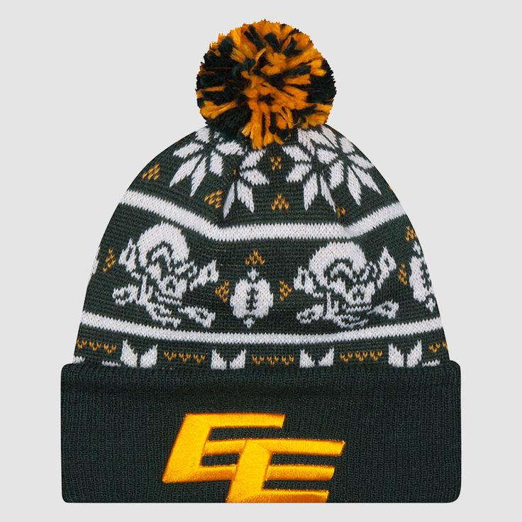 EDM Eskimos Calvin McCarty New Era Player Inspired Series Knit Toque. Show support for your Edmonton Eskimos in style with the third installment of New Era's annual Player Inspired Series, this New Era Knit Toque was designed by Calvin McCarty who was asked to design a toque that would represents himself, the team, and the fans of the Edmonton Eskimos.