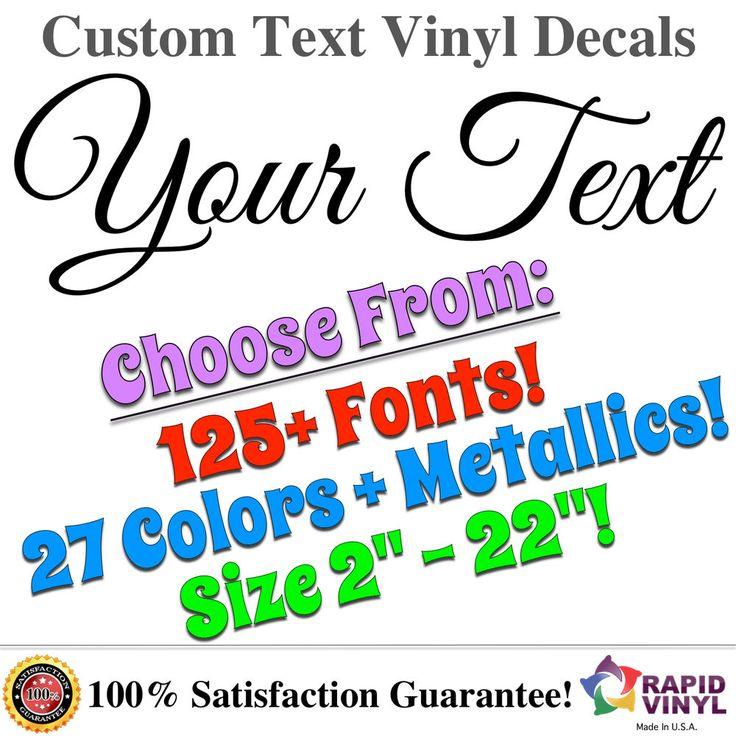 Custom Outdoor Vinyl Lettering  Handpicked Ideas To Discover - Custom vinyl decals quotes   beginning business