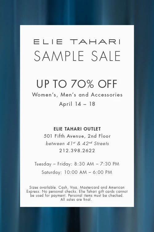 Best Sample Sales Images On   New York City Nyc And